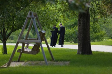 Priests Walking